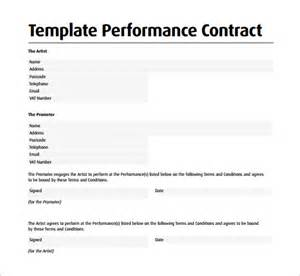 performance contract template performance contract template 11 free