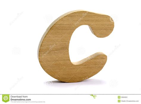 wooden letter c stock photos image 3984953