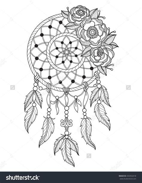 dream catcher zentangle indian dream catcher zentangle stylized cartoon isolated