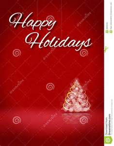 happy holidays tree 3d card background stage stock photo