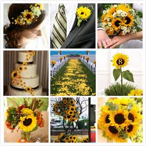 sunflower wedding ideas sunflower themed weddings bridal