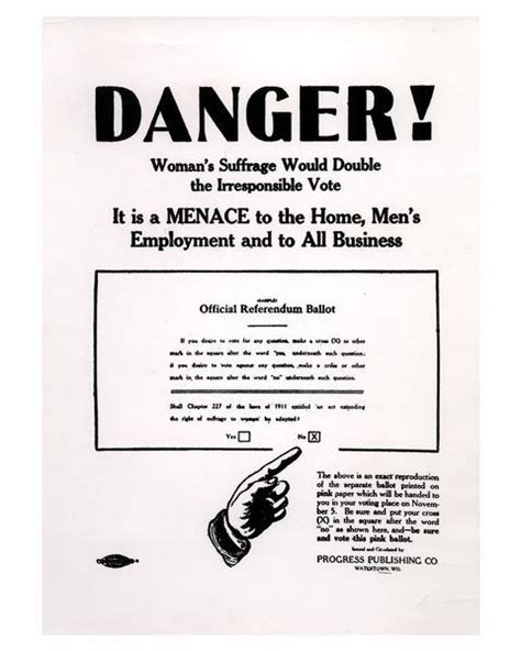 anti woman suffrage poster print wisconsin historical