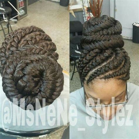african hair braiding styles fish tails ghana braids with a fish tail bun natural hair style