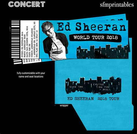 ed sheeran us bank tickets ed sheeran world tour gift custom concert tickets event