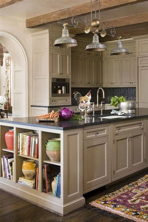 kitchen island with open shelves countertop cookbook shelf a simple yet way to rev your kitchen decor around the world