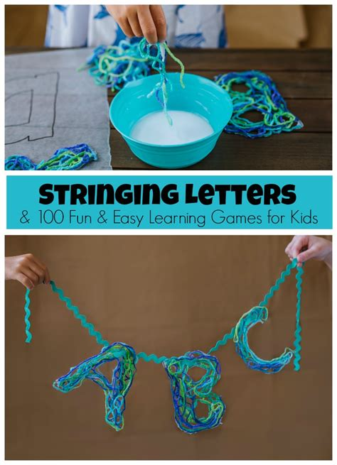 String Alphabet - stringing letters learning activities book