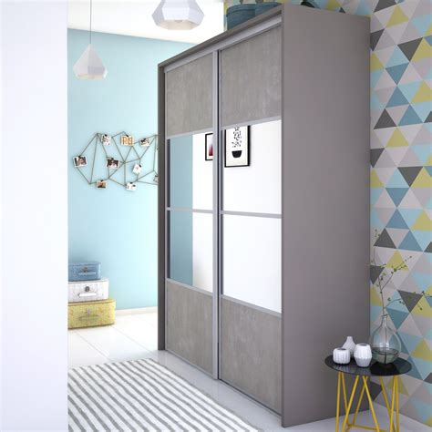 Porte De Placard Coulissante Miroir 3919 by Porte De Placard Coulissante Effet B 233 Ton Miroir Spaceo L