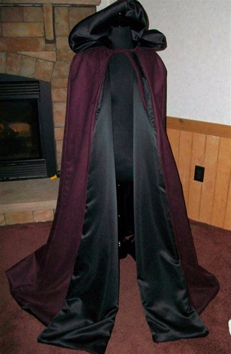 suede renaissance medieval hooded vampire cloak cape wicca  witchs spindle ebay