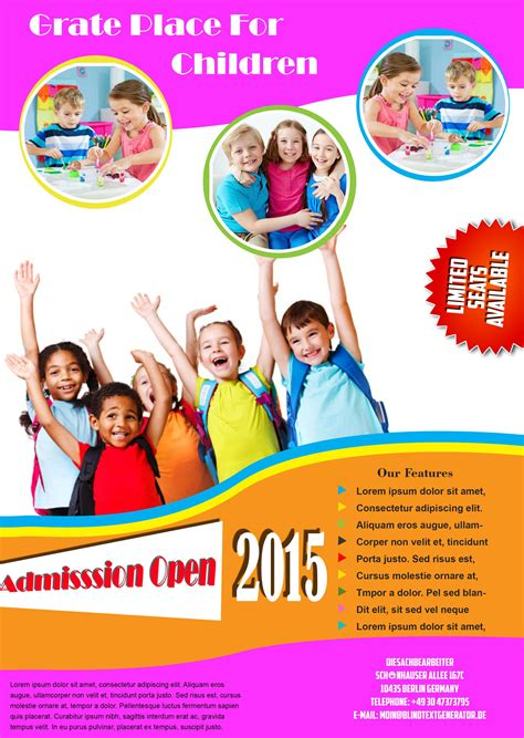 education flyer design templates educational brochure template free