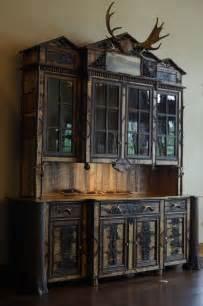 Dining Room China Hutch custom made adirondack rustic buffet hutch cabinet by l