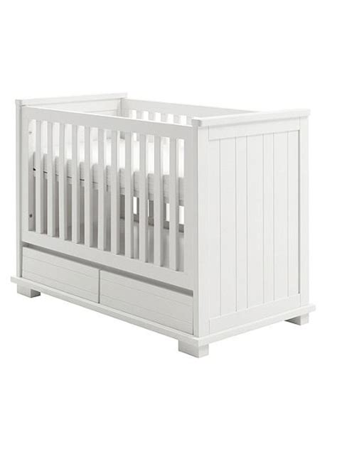 Cot With Drawer by Kidsmill Malmo White Cot Bed With Drawers House Of