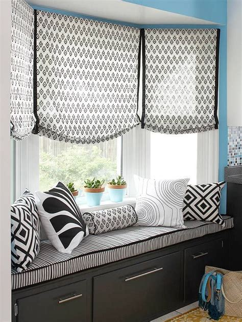 Kitchen Window Curtain Ideas by Bay Window Treatments For That Oustanding Look