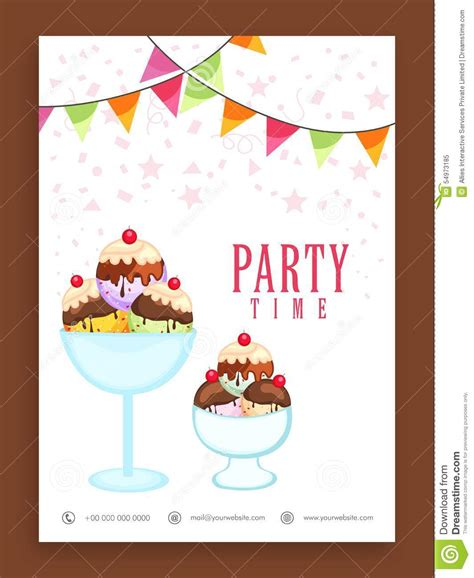 template flyer or banner design for ice cream stock