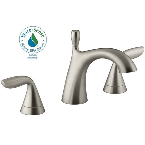 Kohler Bathroom Shower Faucets Kohler Williamette 8 In Widespread 2 Handle Bathroom Faucet With Drain In Vibrant Brushed