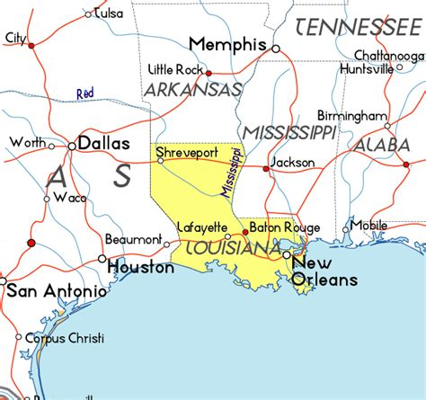 louisiana map usa map of louisiana in the usa