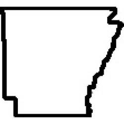 Arkansas State Outline Map by Arkansas State Outline Map