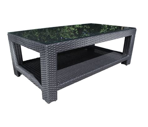 chorus seating wicker coffee table patio at sun country