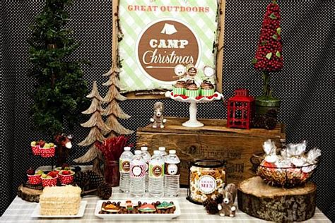 backyard christmas party kara s party ideas c christmas cing girl boy outdoor holiday party planning ideas