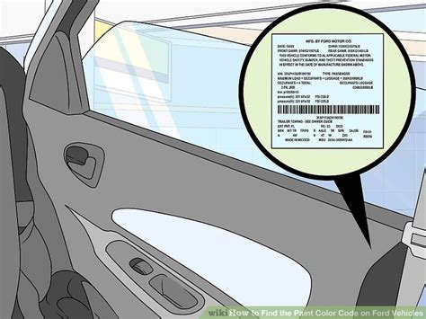 3 ways to find the paint color code on ford vehicles wikihow