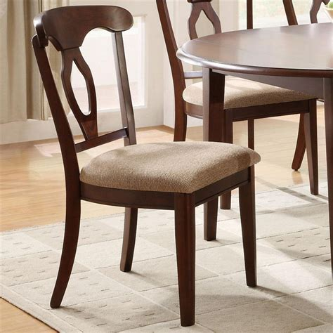 liam cherry finish 7 space saver dining room set