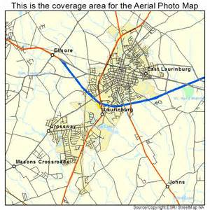 aerial photography map of laurinburg nc carolina