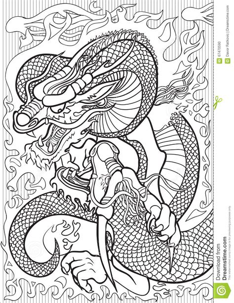 z coloring book for and adults 40 illustrations books dragons stock vector image 67470590
