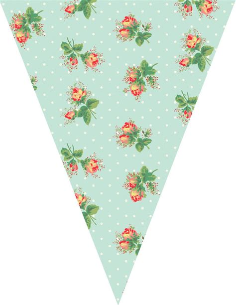 vintage bunting template just peachy designs free floral bunting printable