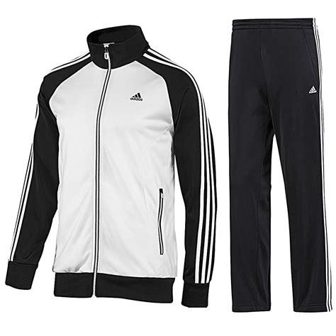 adidas mens tracksuit jogsuit 3s riberio retro black white