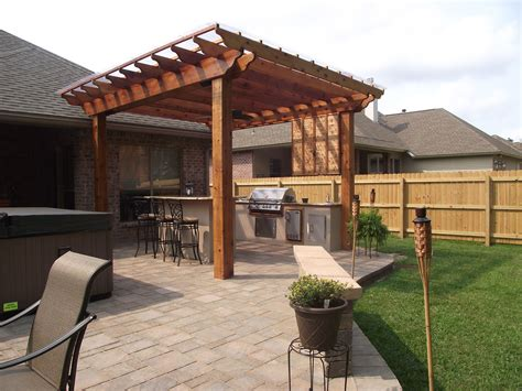 Backyard Pergola Designs by Triyae Backyard Pergola Designs Various Design