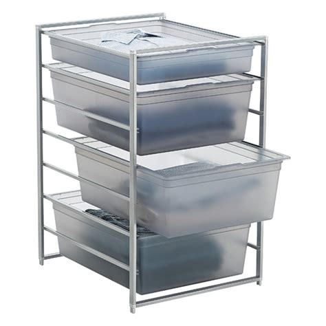 Container Store Elfa Drawers by Platinum Elfa Solid Drawer Start A Stack The Container Store