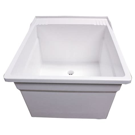 fiat sink l7 molded laundry tub with integral drain laundry