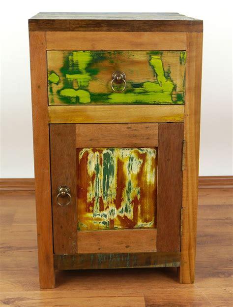 java rustic teak bedside cabinet door drawer bedside colourful bedside table reclaimed teak wood old boat wood