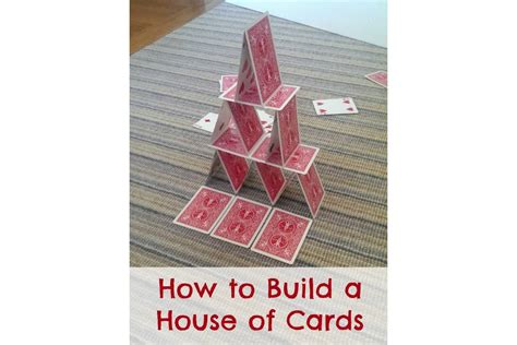 How To Make A House Out Of Construction Paper - how to build a house of cards bedtime mathbedtime math
