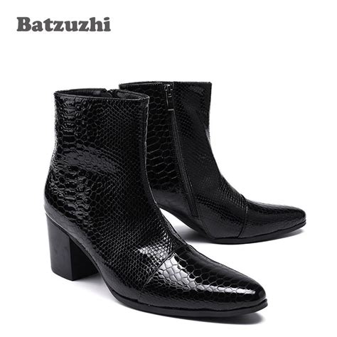 Heels Shoes 7 Cm Black 7cm high heels boots pointed toe black leather boots