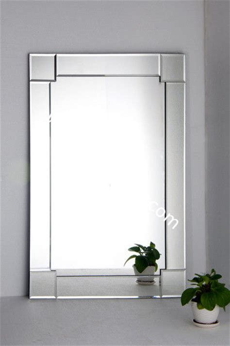 decorative wall bathroom glass mirror deco home 90 65cm
