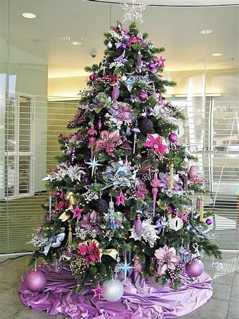 christmas tree decorated in purple a wonderful world of