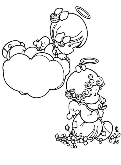 baby angel coloring page 288 best images about printable images precious moments