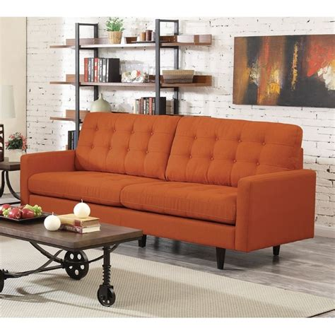 Orange Modern Sofa Orange Modern Sofa Wayfair Sofas Also Small Sectional Sleeper Sofa And Orange Or Thesofa