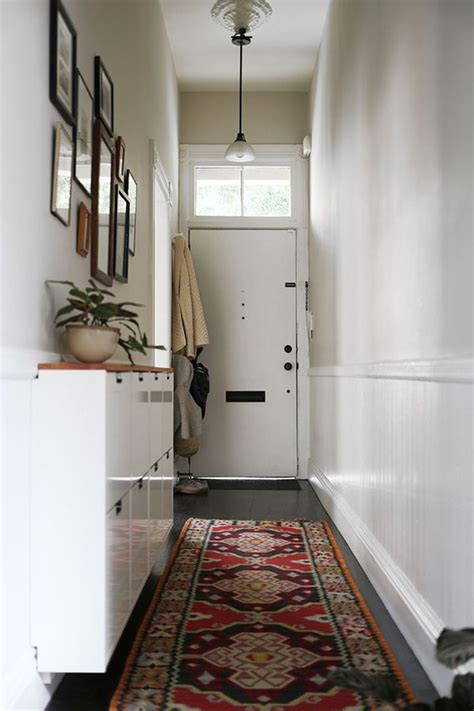 narrow entryway narrow entry with ikea shoe cabinet diy wood top come