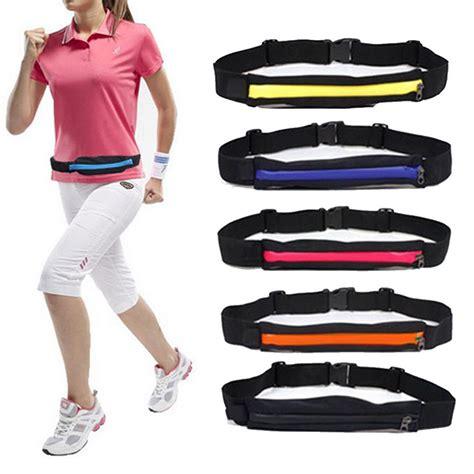 Running Waist Belt Bag Tas Pinggang Sport unisex sport travel sports running cycling waist belt bag pouch ebay