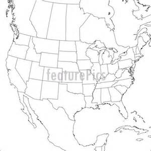 blank map of the united states and canada