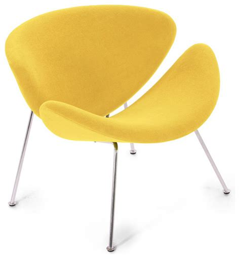 Yellow Modern Chair by Easy Chair Lysergic Yellow Fabric Midcentury
