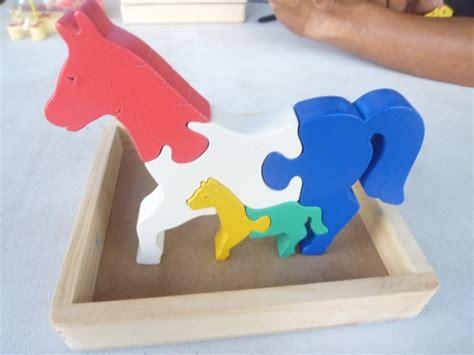 Kotak Kayu Puzzle 3d puzzle satuan 3d kuda mainan kayu