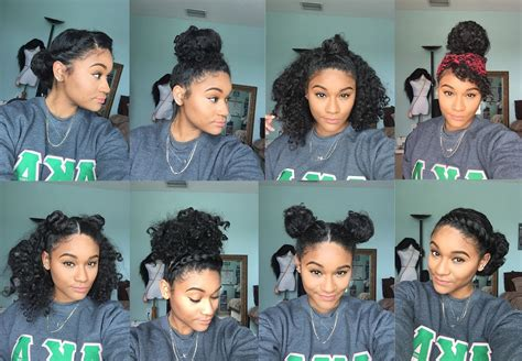 natural styles that you can wear in the winter natural hair 8 bun styles for curly hair youtube