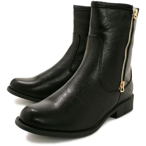ankle boots buy demure flat ankle boots black leather style
