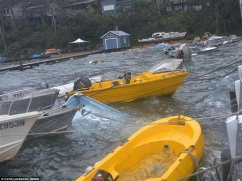 hurricane boats sydney lone surfer paddles out in nsw storm at deadman s point