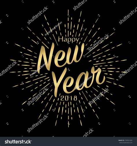 2018 international new years cards templates happy new year 2018 greeting card stock vector 739531420