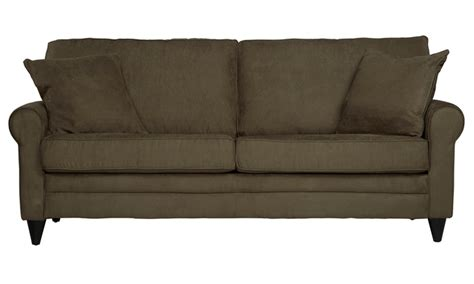 olive green sofa beaumont olive green sofa groupon goods