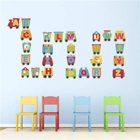 wall stickers alphabet letters alphabet wall stickers by mirrorin