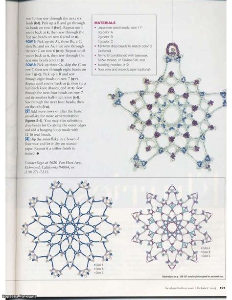 christmas crafts beaded snowflakes patterns make